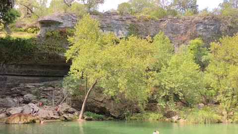 Secret swimming hole in Texas