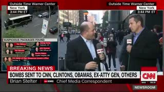 CNN's Brian Stelter blames conservatives and Trump for bomb threat - Video