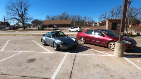 Amazing Classic Porsche in the Parking Lot