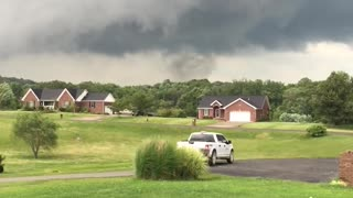 Tornado Forming in Corydon - Video