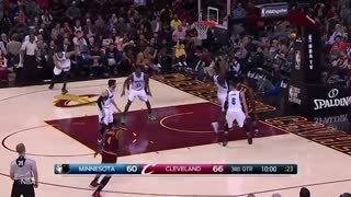 LeBron James Impresses HIMSELF w/ VICIOUS Reverse And-1 Layup - Video