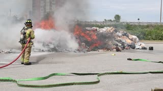 Garbage Truck Fire - Video
