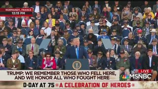 Trump, D-Day: Ray, the free world salutes you