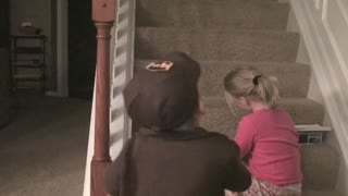 Kid is excited to be a UPS man for Halloween - Video