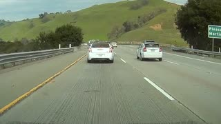 Possible Drunk Driver on California Highway - Video