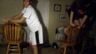 Dining Room Chair Breaks During Teen's Dance Routine - Video