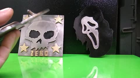 Scream, Zero Skateboard, PopWar, custom belt buckles - RT Artisan Works