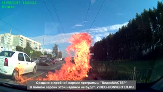 Motorcycle on Fire - Video