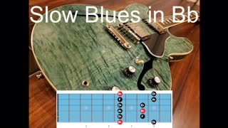 Slow Blues Backing Track in Bb