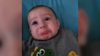 Adorable Baby Is Afraid Of Mom's Roars - Video