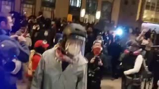 Antifa Busts Through Police Line to Harass Trump Supporters in Washington DC Hotel - Part 1