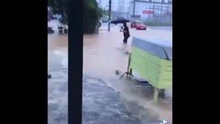Business still open while flood