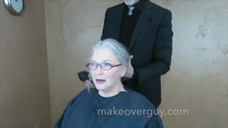 MAKEOVER: I Want To Have Gray Hair, by Christopher Hopkins, The Makeover Guy® - Video