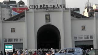 Ben Thanh Market in Saigon - South Vietnam  - Video