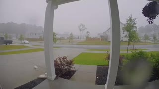 Lightning Bolt Caught on Doorbell Camera