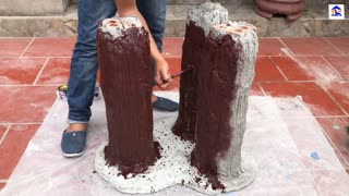 Creative Cement Ideas - How To Make a Concrete Coffee Table - BEAUTIFUL and EASY