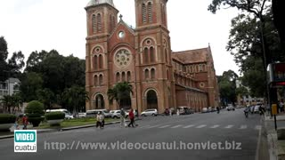 Notre Dame Cathedral in Saigon - South Vietnam  - Video