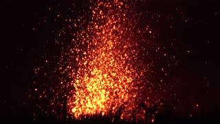 Volcano Lava Eruption in Slow Motion