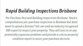 pre purchase inspection brisbane - Video