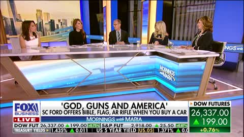 South Carolina Ford dealer with gun and Bible promotion
