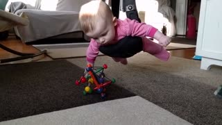 Dad Entertains Himself With Baby Version Of Classic 'Mission Impossible' Scene - Video