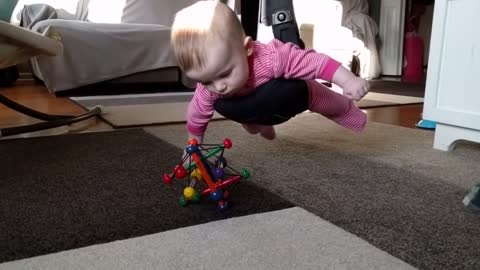 Dad Entertains Himself With Baby Version Of Classic 'Mission Impossible' Scene