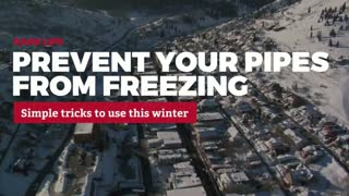 Here's How To Prevent Pipes From Freezing In Deep Winter - Video
