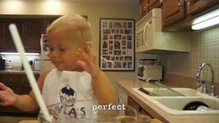 Cutest 2-Year-Old Cake Baker - Video