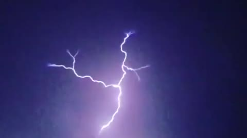 Glorious slow motion captures incredible lightning strike