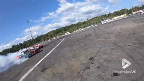 Pro Drift Chase from a drone