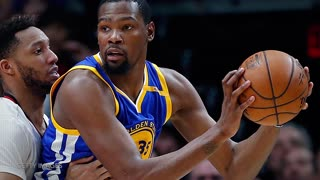 Kevin Durant Reacts to Twitter Meme of Him & Draymond Green's Pep Talk - Video