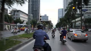 Amazing Ride With Motorcycle On The Road Inside City