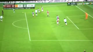 Zlatan Ibrahimovic goal vs West Ham - Video
