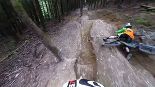 Collab copyright protection - mountain biking gopro jump fail - Video