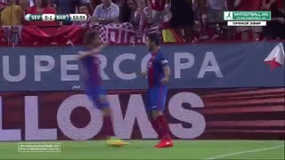 Sevilla vs Barcelona 0-1 Luis Suarez Goal (Super Cup 2016) - Video