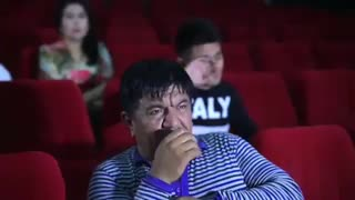 Watching a movie that makes you cry funny
