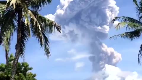 Check out this super cool footage of an erupting volcano!