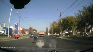 Dump Truck and Trike Collide