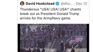 Trump showed up at Army/Navy game
