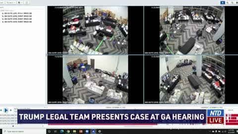 Video shows poll workers pulling out boxes of ballots | Georgia election hearing | NTD