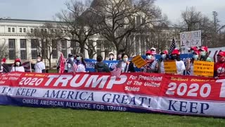 Chinese American Alliance for Trump Rally -4 12/12/2020