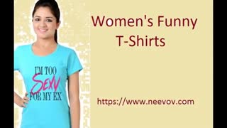 Turquoise Colour Womens Cotton T Shirts - Video