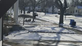 Lawn Mowing in the Snow - Video