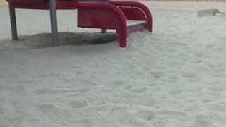 Slow mo baby slide fail