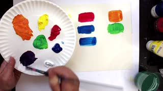 Mixing Colors with Paint