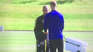 VIDEO: Joe Hart Leaves Man City Training After Words With Pep Guardiola