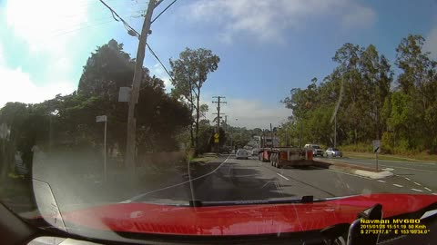 Truck Lane Change Fail Wiping Out Car