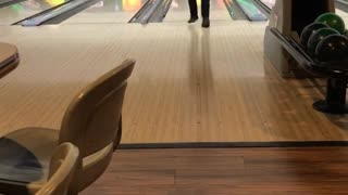 Guy sends it at bowling alley  - Video