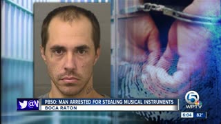 PBSO: Man stole musical instruments from Palm Beach County Orchestra
