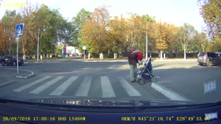 Toddler Falls Out of Stroller